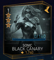 Injustice2 Characters SonicBlackCanary