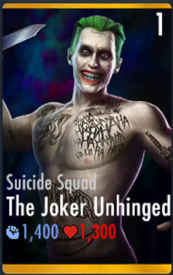 The Joker Unhinged Suicide Squad Injustice Mobile Wiki