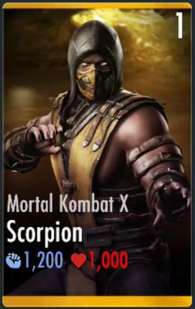 scorpionmortal kombat x injustice mobile wiki fandom