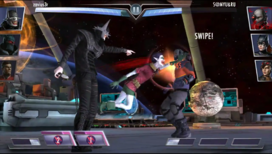 Savage Robin attacking his opponent