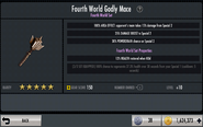 Fourth World Godly Mace EVOLVED Stats