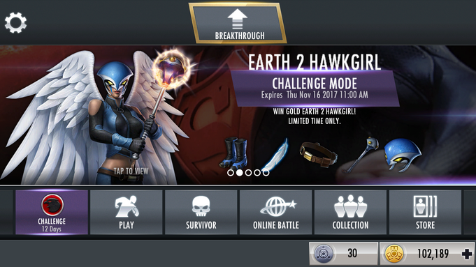 Earth 2 Hawkgirl Challenge Mode