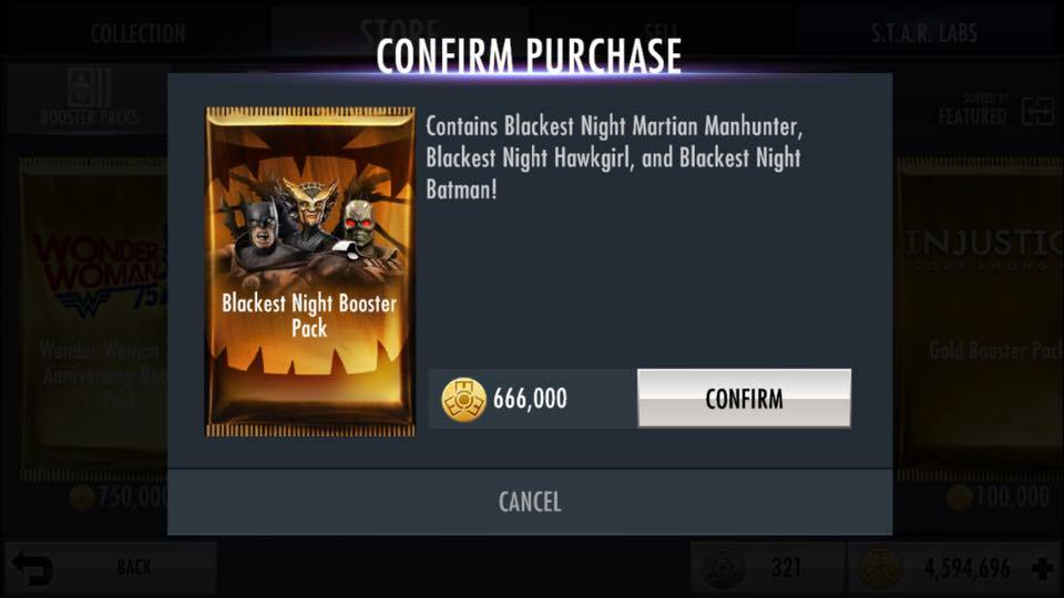 Blackest Night Booster Pack | Injustice Mobile Wiki | FANDOM powered
