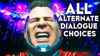 INJUSTICE 2 ALL Alternate Chapter Dialogue Choices Story Mode