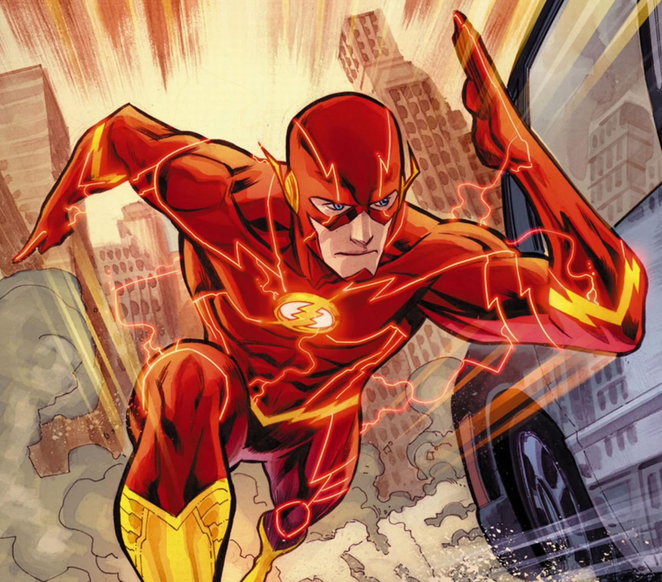 Flash running with speed force developing