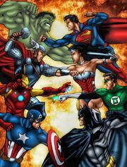 Avengers vs justice league by marcbourcier-d50koj3