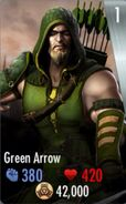 IOS Green Arrow Card