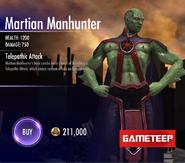 Martian Manhunter Stats