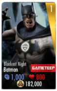 Blackest Night Batman IOS Card