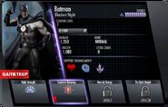 Blackest Night Batman IOS Stats