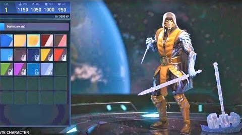 INJUSTICE 2 - ALL SUB-ZERO SHADERS!! SCORPION SHADER!!!!!