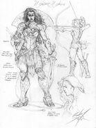 Concept Art Wonder WomanJL