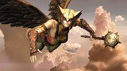 Hawkgirl Flying
