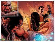 Black Adam disarms Cyborg
