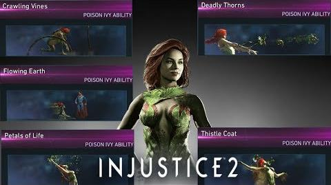 Injustice 2 Poison Ivy - All Unlockable Abilities