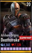 Arkham Origins Deathstroke Card