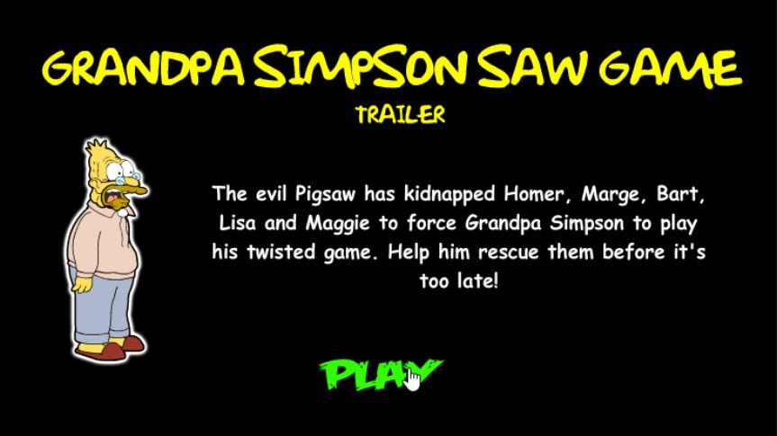 Grandpa Simpson Saw Game Inkagames English Wiki Fandom Powered