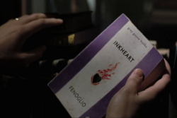 Mo holding Inkheart