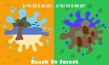 Beach Vs Forest art