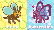 Bees vs butterflies