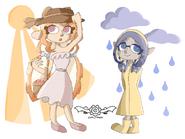 Sun vs Rain Splatfest art
