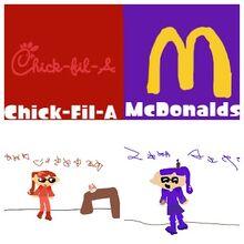 CFA VS McDonalds Collage