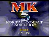 MK5 Mortal Combat - Sub-Zero