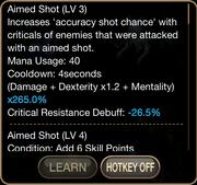 Ranger aimed shot