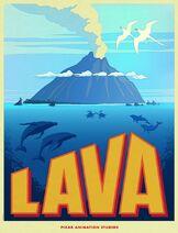 Poster cortometraje lava disney pixar