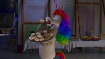 Unicornio Arcoíris a punto de comer