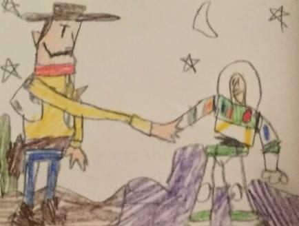 Image Toy Story Woody Buzz Handshake Drawing Jpeg Inside Toy