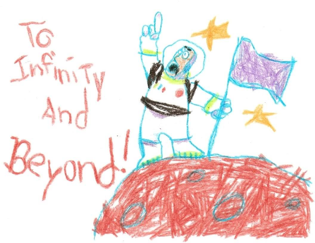 Toy Story Buzz Lightyear To Infinity And Beyond Drawing