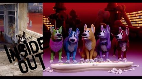 Inside Dog's head frome Inside Out movie 2015