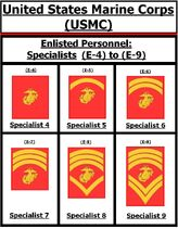 (A) USMC Specialist Rank Insignia