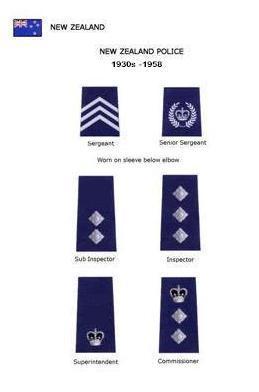 New Zealand Police 1930s -1958