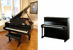 250px-Grand piano and upright piano
