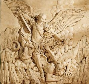 File:St Michael the Archangel Sculptural Wall Frieze Dey Mt Laurel 2007.jpg