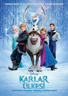 Frozen Turkish Poster