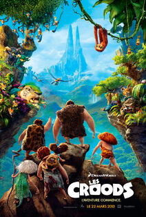 The Croods Canadian French Poster