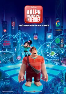 Disney's Ralph Breaks the Internet European Spanish Poster 2