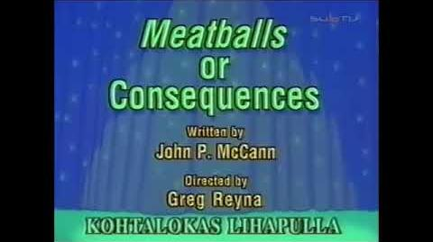Animaniacs Meatballs or Consequences Title Card (Finnish)