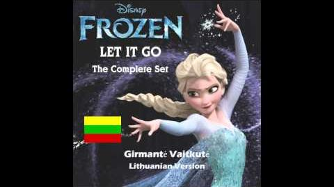 Let It Go (song) - Lithuanian