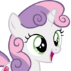 Sweetie Belle (My Little Pony Friendship Is Magic) - head