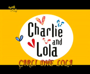 Charlie and Lola - title card (Albanian)