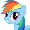 Rainbow Dash (My Little Pony Friendship Is Magic) - head
