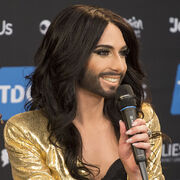Conchita Wurst, ESC2014 Meet & Greet 08 (crop)