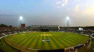 Zohur Ahmed Chowdhury Stadium at night