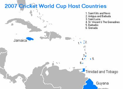 2007 Cricket World Cup venues