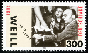 Stamp Germany 2000 MiNr2100 Kurt Weill