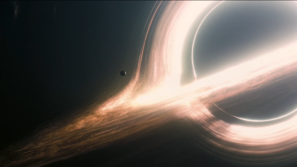 A Black Hole from Interstellar Movie